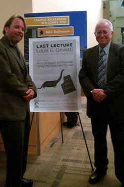 Matthew Lange and Dr. Louis Grivetti